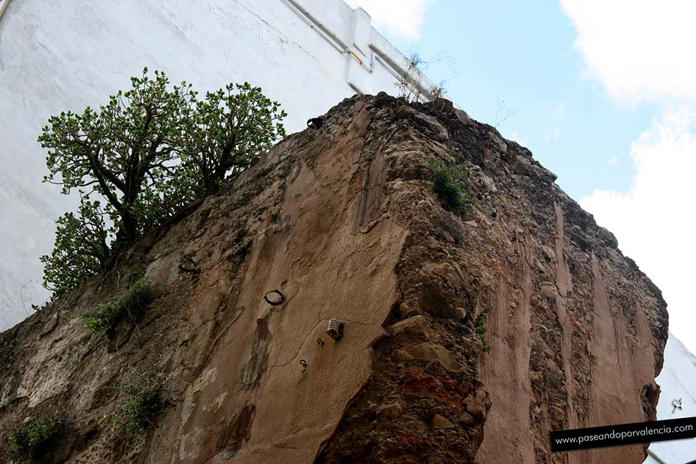 Restos de las murallas árabes en Valencia