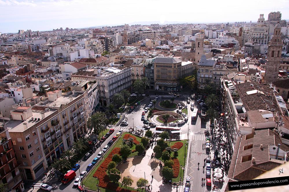 Plaza de la Reina vista desde lo alto de El Micalet