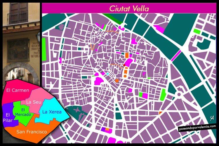 Barrios de la Ciutat Vella de Valencia