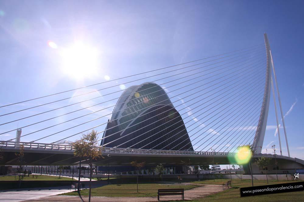El Ágora en la Ciudad de las Artes y las Ciencias de Valencia