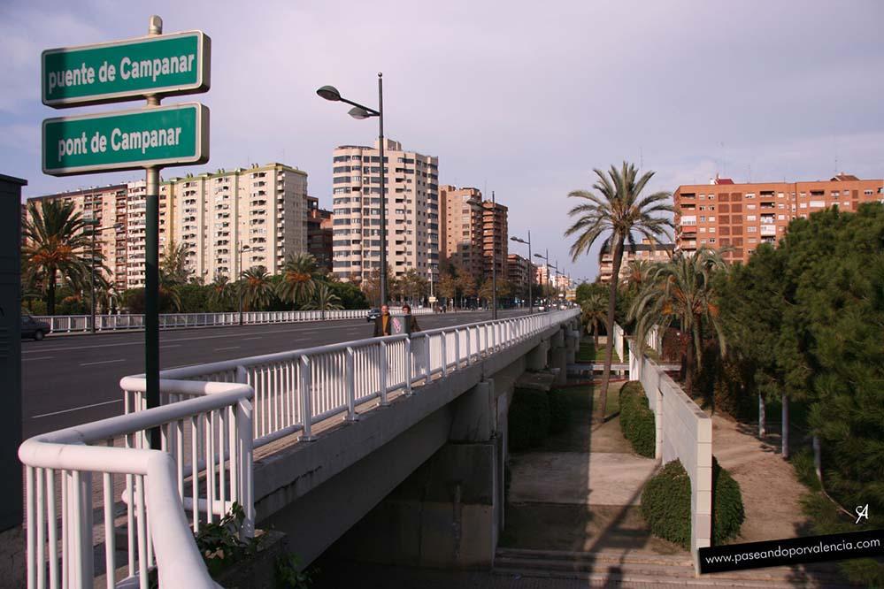 Puente de Campanar en Valencia