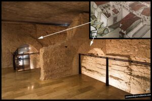 Muralla árabe de Valencia del siglo XI en la Galería del Tossal
